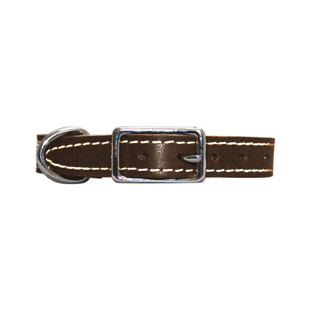 Collar - Single Leather - Brown