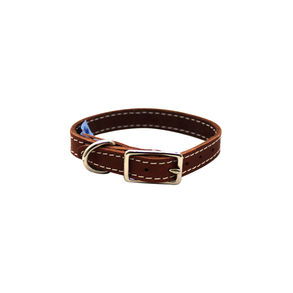 Collar - Single Leather - Brick Red