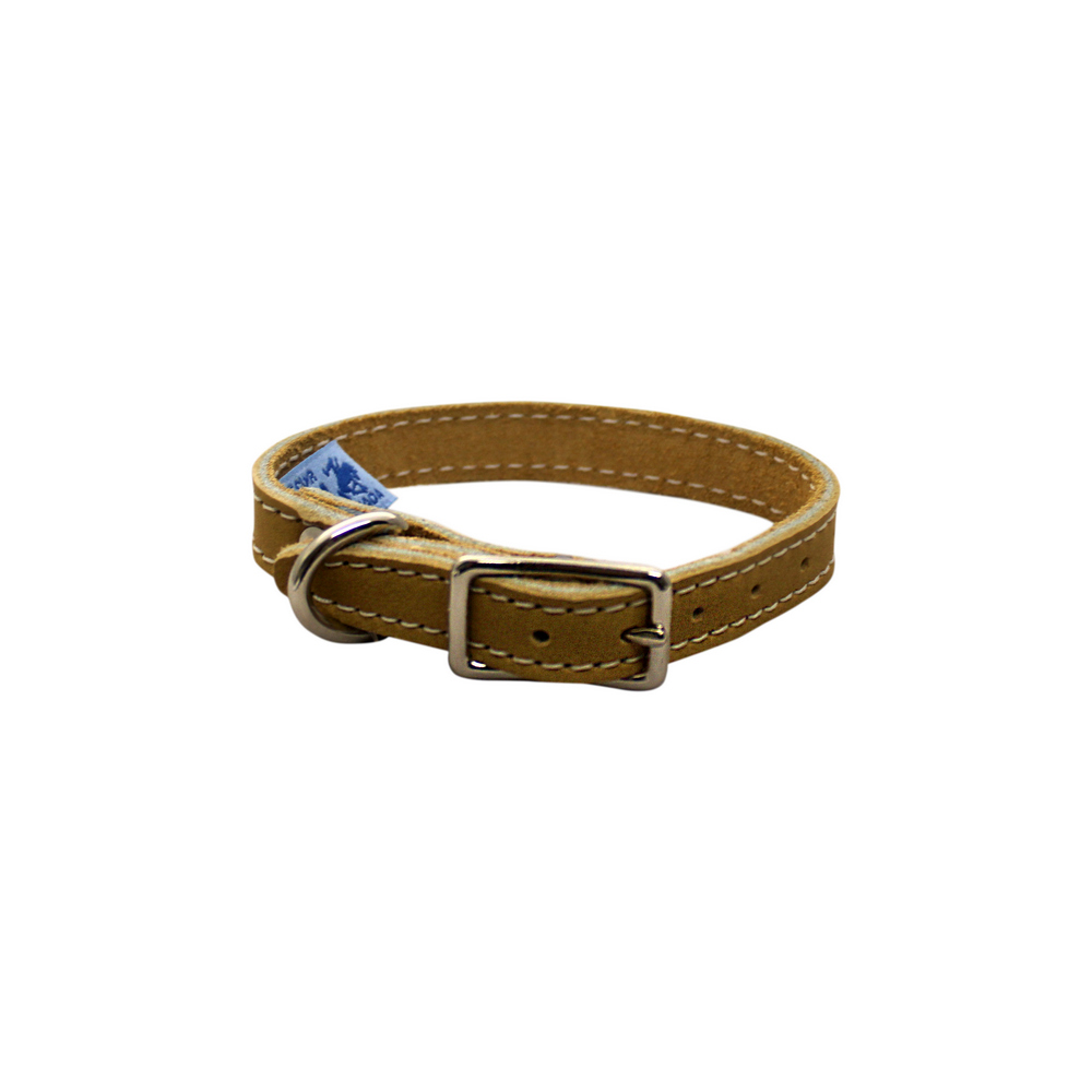 Collar - Single Leather - Tan