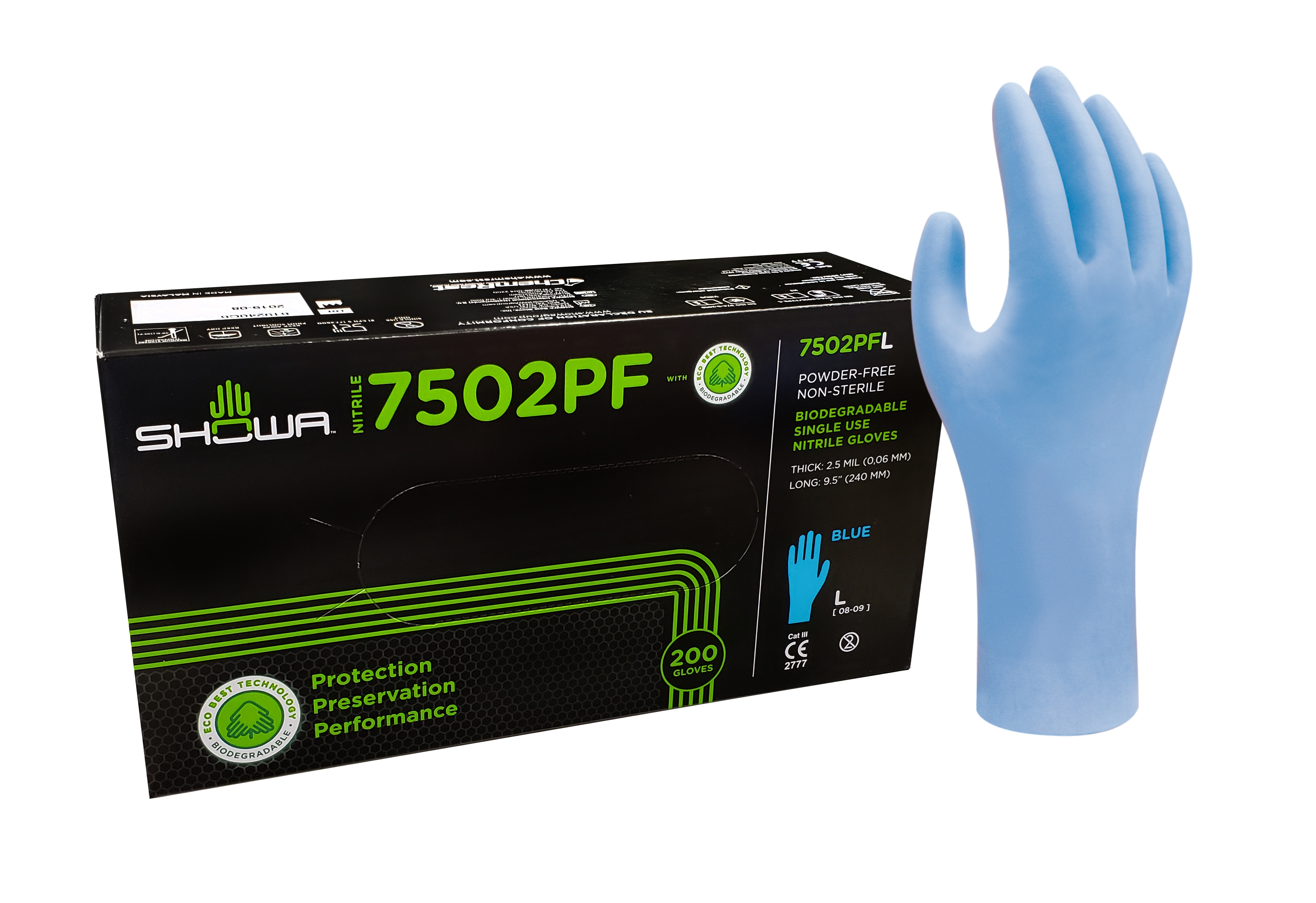 Gloves - Nitrile - Showa Biodegradable