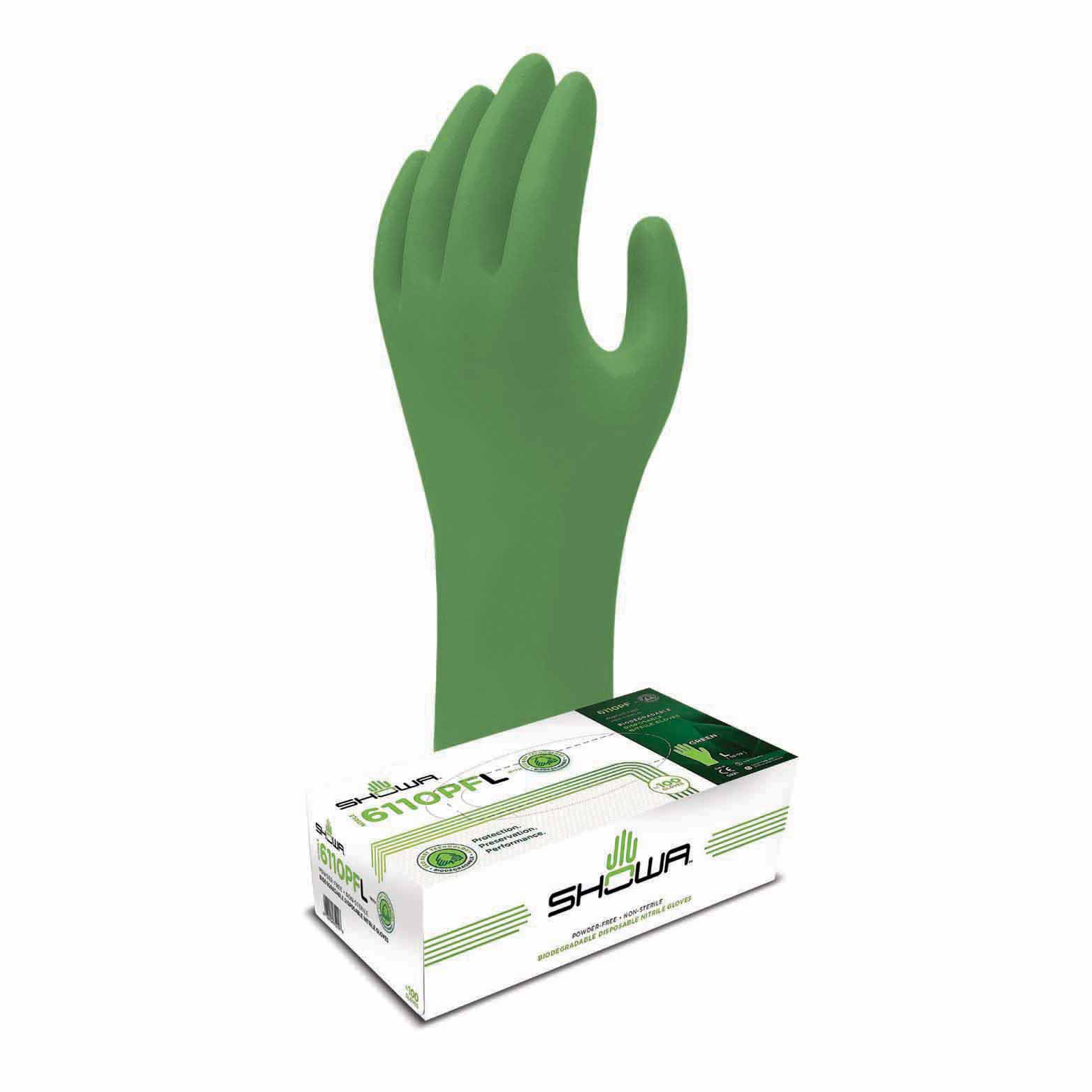 Gloves - Nitrile - Green-Dex Biodegradable