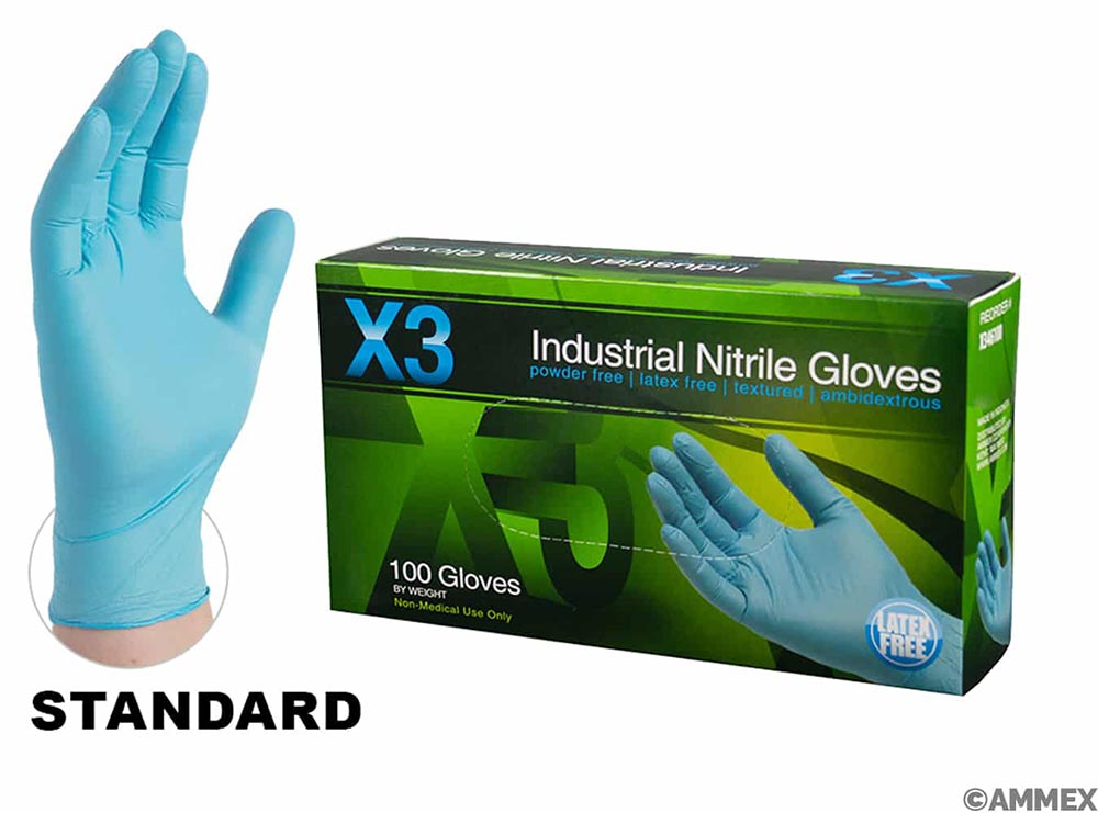 Gloves - Nitrile - X3