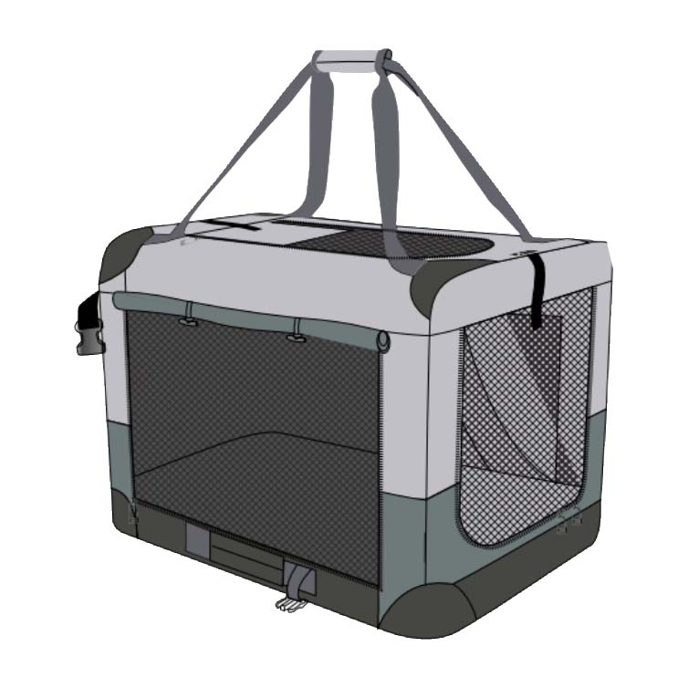 Soft Crate Med 24x16x16in
