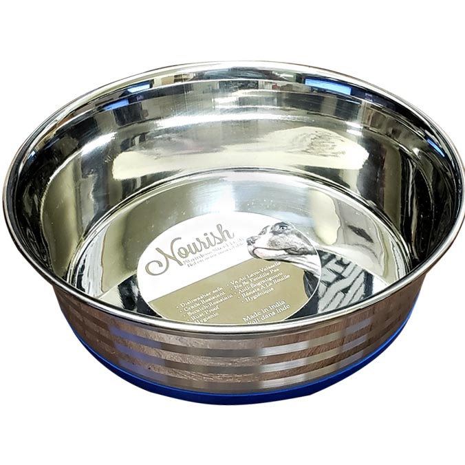 Stainless Steel Anti-Skid Bowl - Heavy - Stripes