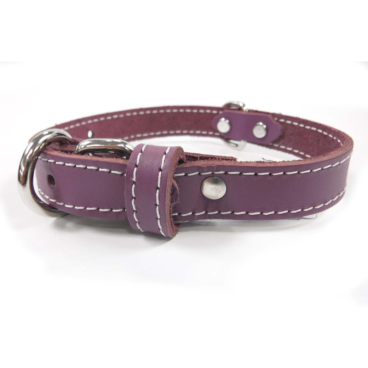 Collar - Single Leather - Purple