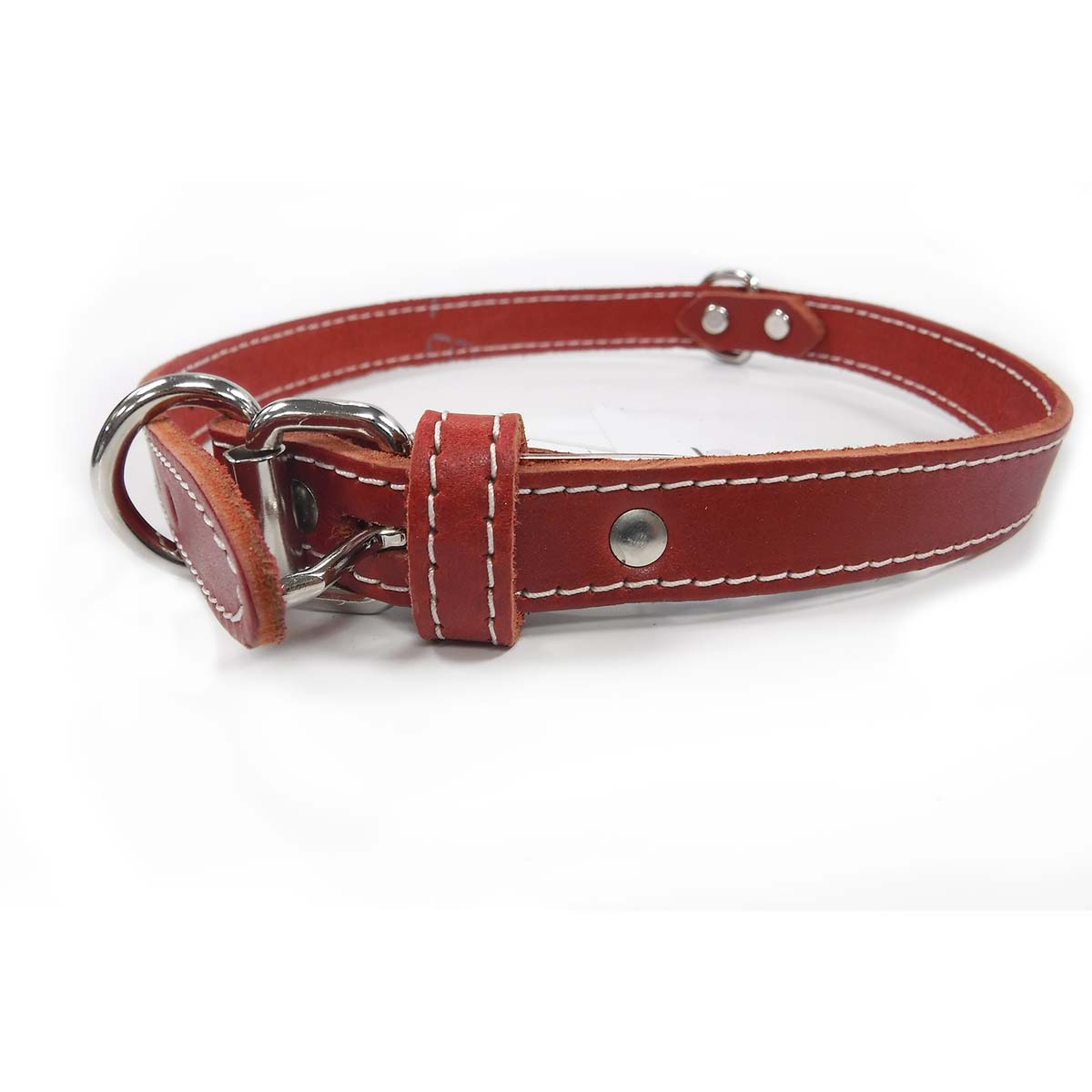 Collar - Single Leather - Red