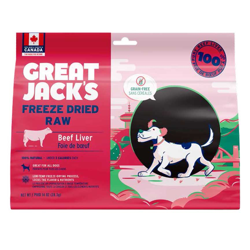 Great Jacks Freeze-Dried Raw - Beef Liver